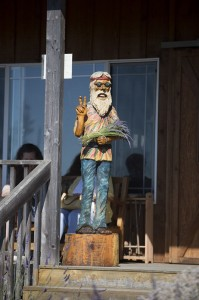 Hippie Greeter Statue