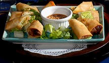 photo of spring rolls